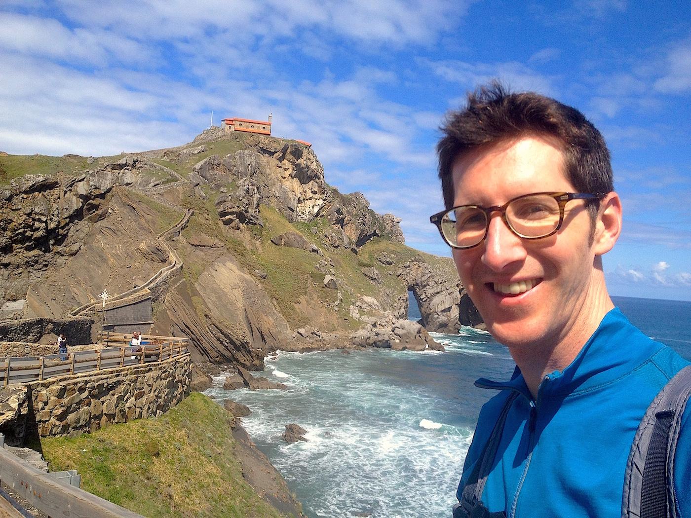 Nathan at San Juan De Gaztelugatxe