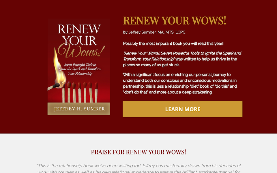 Renew Your Wows landing page