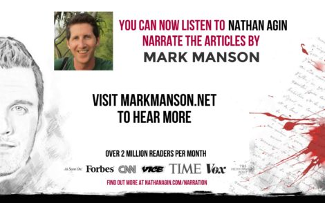Mark Manson Narrating Launch