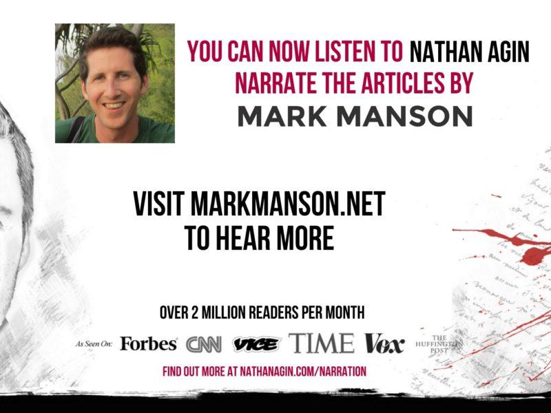 Mark Manson Narrating Launch