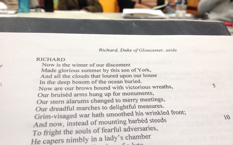 I'm playing Shakespeare's Richard III in Chicago