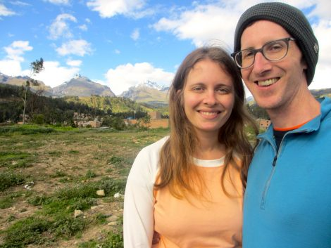 Sharon and Nathan in Huaraz, Peru